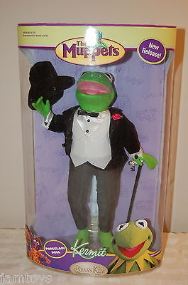 """GREAT GIFT!! Muppets KERMIT The FROG Porcelain DOLL 12"""" New! MUPPET SHOW"""