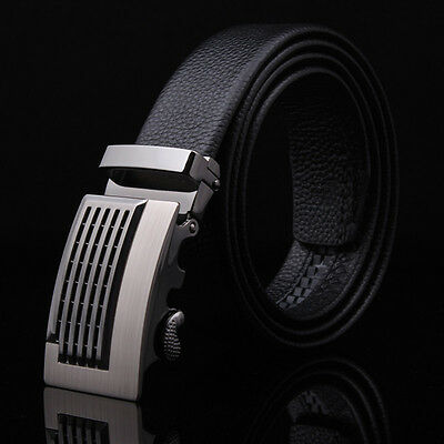 Automatic Buckle Men's Fashion Casual Waist Strap Belts Waistband Faux Leather