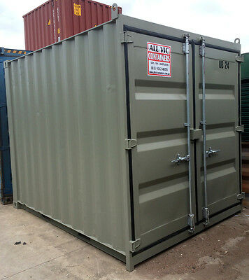 10ft /3m long approx 8'6 High shipping container / storage shed WITH NEW DOORS!!