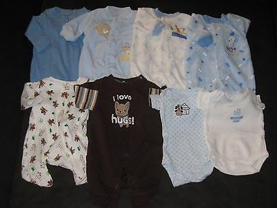 Baby Boy Preemie Sleepers Romper One Pieces Clothes Lot