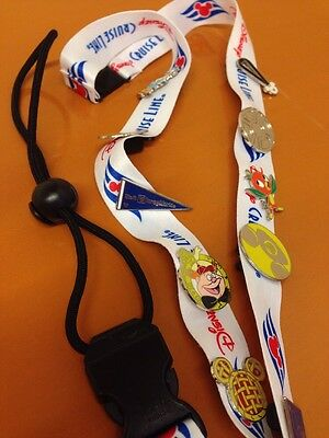 Disney Cruise Line lanyard with 10 trading pins DCL DVC Captain Mickey Magic