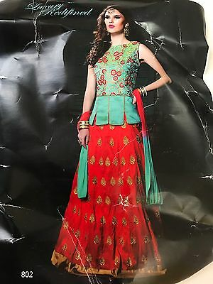 Usa seller Silk Lehengha choli DEsigner work Indian Ethnic wedding / party dress