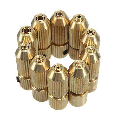 2 2.3mm  Electric Motor Shaft Clamp Fixture Chuck Mini For 0.7-3.2mm Drill SU