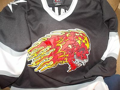 Metallica 97 Tour Hockey Jersey ,Adult Size Large (used),Flaming Skull