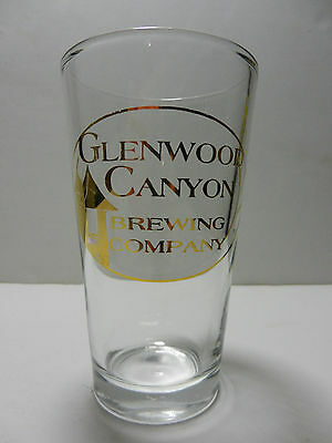 Glenwood Canyon Brewing Company Gold Script Pint Beer Glass Colorado Brewery