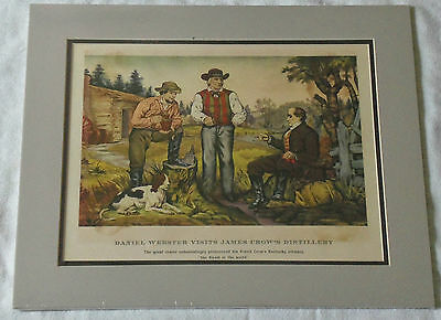 14x17 Daniel Webster Visits James Crow's Distillery Old Whiskey Lithograph Print