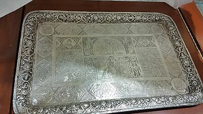 Persian Sterling Silver Tray