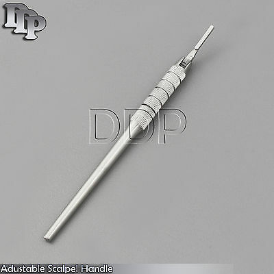 Adjustable Scalpel Handle Round Pattern Surgical Dental Instrument Free Ship