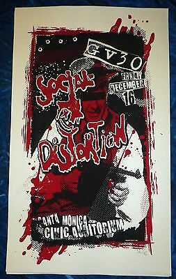 "Rare 2011 Social Distortion Gv30 Poster Santa Monica Civic 1/350 27.25"" X 16.25"""