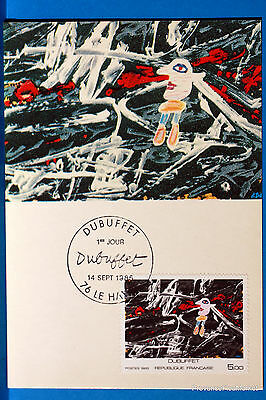 Yt A 2381 DUBUFFET   FRANCE  CARTE MAXIMUM 1° JOUR FCP