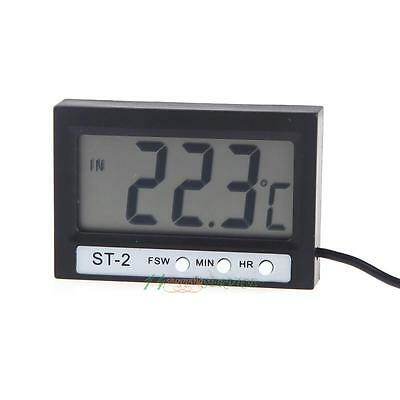 Digital LCD Thermometer Indoor Outdoor Wireless Wall Clock Thermometers Adsorber