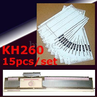 15Pcs Pre Punched Card Set for Brother Knitting Machines - KH260