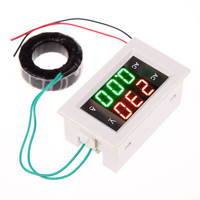 AC 500V 100A Digital Voltmeter Ammeter LED Amp Volt Meter + CURRENT SHUNT White