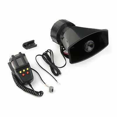 12V 50W Electric Horn 5 Sounds Car Truck Motorcycle PA Speaker System Lot F&