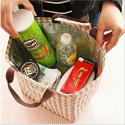 Portable Insulated Thermal Cooler Lunch Box Tote Storage Bag Picnic Container JJ