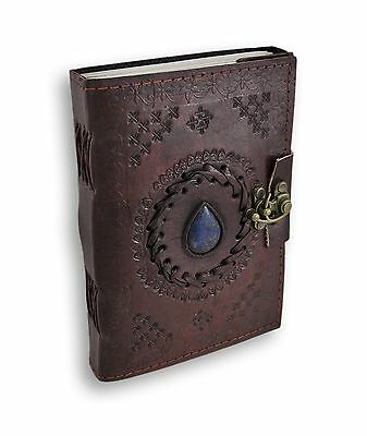 HANDMADE Leather Journal Diary Notebook Vintage Planner Retro Clasp Lock
