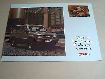 ISUZU TROOPER SWB & LWB UK SALES BROCHURE c.1988/9