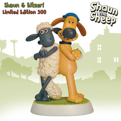 NEW! Shaun the Sheep and Bitzer - Robert Harrop Figurine - Limited Edition 300