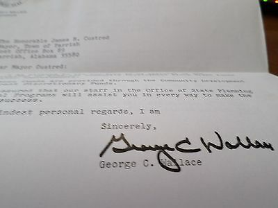 1983 Letter George C Wallace Hand Signed Autographed Alabama State Governor