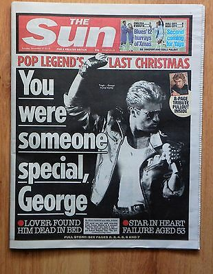 UK The Sun December 27th 2016 George Michael Dead  + Pull-Out Tribute