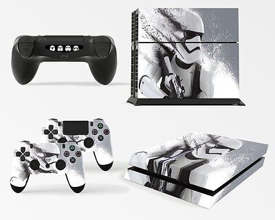 Playstation 4 PS4 Console Skin Decal Sticker Star Wars Battlefront Stormtrooper