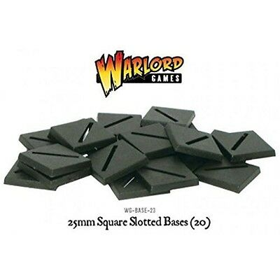 25mm Square Slotted Bases - Warlord Games Stands War Figures