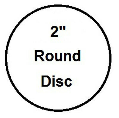 "2"" Round, 3 Coat Process Sublimation Aluminum Blank Disc- Lot of 50PCs"