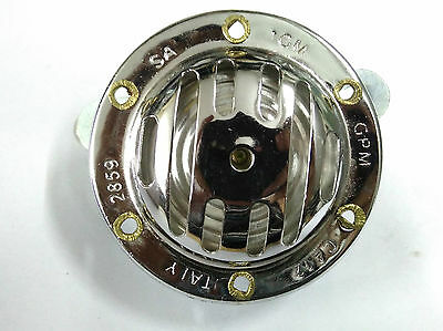 12 Volt Ac Milano Style Horn & Fixings .chromed.suitable For Lambretta Scooters
