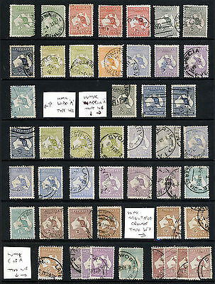 AUSTRALIA 1913 to 1945 Kangaroos A 'Roo Collection Many High Cat SG 1 to SG 212
