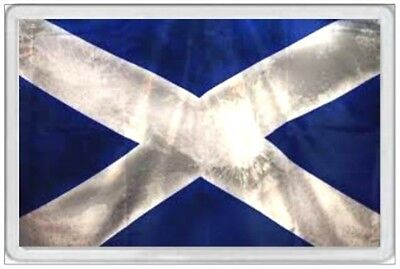 Scotland Flag - Jumbo Fridge Magnet - Retro Grunge Tattered Faded Scottish Scots