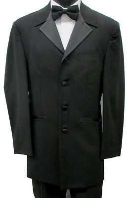 44R Black Tuxedo Jacket Frock Coat Theater Costume Retro Pimp Steampunk Discount