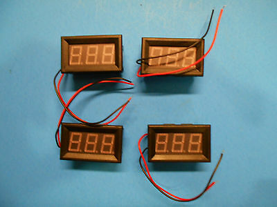 lot of 4 new YB27 DC-100 V- DC4.5-30V red LED display modules