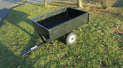 Trailer for ride on mower lawn tractor
