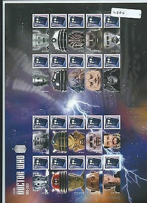 wbc. - GB -  LS85 - SMILER SHEET - DOCTOR WHO - unm.  mint