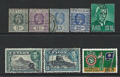 Ceylon - Used Stamps Lot King George V King George Vi Girl Guides