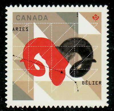 Canada #2449i Signs of the Zodiac Aries Die-Cut from Booklet MNH