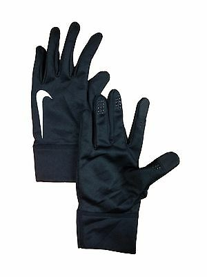 Nike Womens Size Large Black Texting Compatable Rnining Gloves NEW
