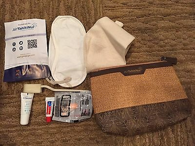 Air Tahiti Nui Airline First Class Amenity Toiletry Cosmetic Bag