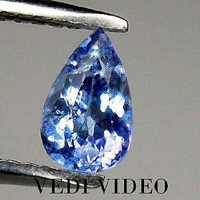Brillante Tanzanite Goccia  Naturale Intrattata  Ct.0,84 Vs Vvs