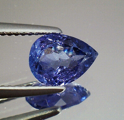 Brillante Tanzanite Naturale Intrattata  In Blister Ct. 1.35  Vs  Vvs Goccia