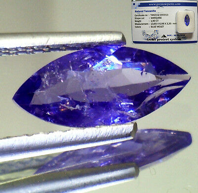 Tanzanite Brillante  Naturale In Blister  Block D  Ct. 1,90 Marchese Si Vs