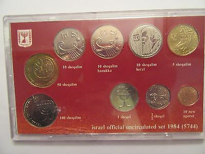 1984 Israel Official Mint Set, 9 Uncirculated Coins