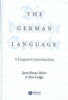 The German Language: A Linguistic Introduction by Jean Boase-Beier Hardcover Boo