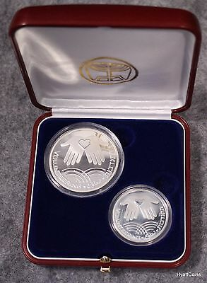 2002 Israel Proof Silver Volunteering 54th Anniversary Coin 1 & 2 NIS Sheqel COA