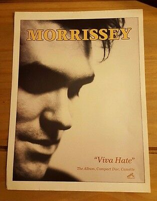 Morrissey/the Smiths 'viva Hate' Magazine Press Advert/mini Poster Ad