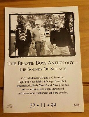 Beastie Boys 'the Sounds Of Science' Magazine Press Advert/mini Poster Ad