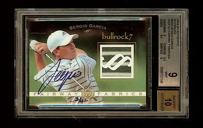 Sergio Garcia 2004 SP Authentic Golf BUYBACK Auto #3/4 Fairway Fabrics #1830