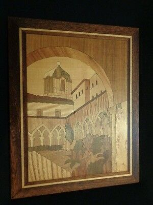 Marquetry Inlay Wood Mission Wooden Picture