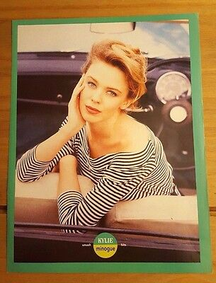 Kylie Minogue Full Page 'tears On My Pillow' Magazine Mini Poster