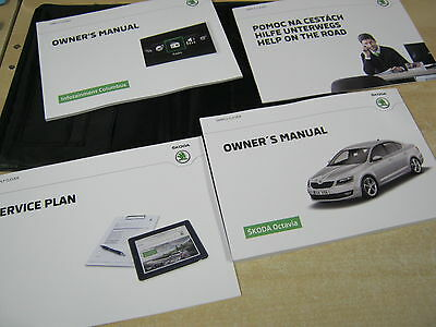 Skoda Octavia  Drivers Handbook Pack Owners Manual  2012-2015 Sat Nav Columbus